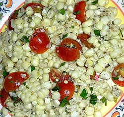cherry tomato and corn salsa