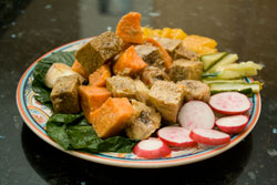 Curried Tofu and Sweet Potato Wakaya
