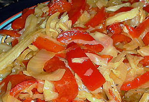 Wilted Cabbage and Red Pepper Salad