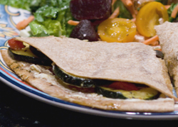 Veggie & Goat Cheese Quesadillas