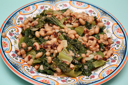 Escarole Sauteed with Black-eyed Peas