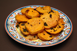 Sliced Sweet Potato with Garlic Oil & Fried Sage