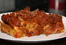 American Lasagna with Vegetarian Ground Beef